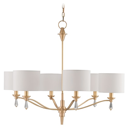 Currey and Company Lighting Currey and Company Bonnington Satin Brass Chandelier 9292