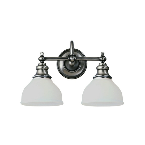Hudson Valley Lighting Bathroom Light with White Glass in Antique Nickel Finish 5902-AN
