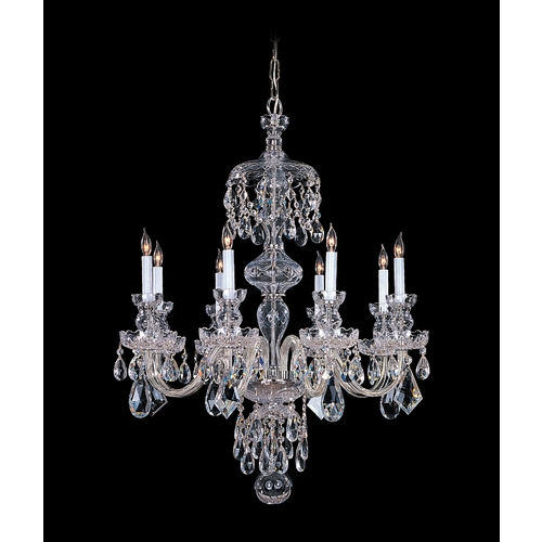 Crystorama Lighting Crystal Chandelier in Polished Chrome Finish 1148-CH-CL-SAQ
