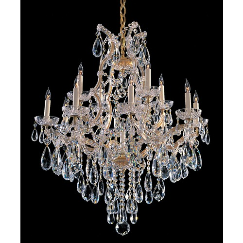 Crystorama Lighting Crystorama Maria Theresa 2-Tier 13-Light Crystal Chandelier in Gold 4413-GD-CL-MWP