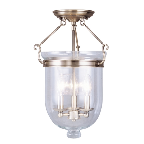 Livex Lighting Livex Lighting Jefferson Antique Brass Semi-Flushmount Light 5062-01