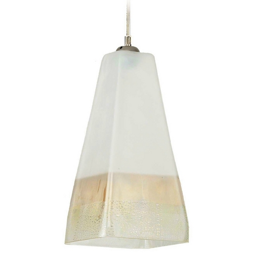 Oggetti Lighting Oggetti Lighting San Marco Satin Nickel Mini-Pendant Light with Square Shade 29-L3105N