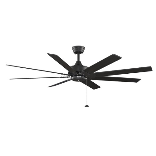 Fanimation Fans Fanimation Fans Levon Black Ceiling Fan Without Light FP7910BL