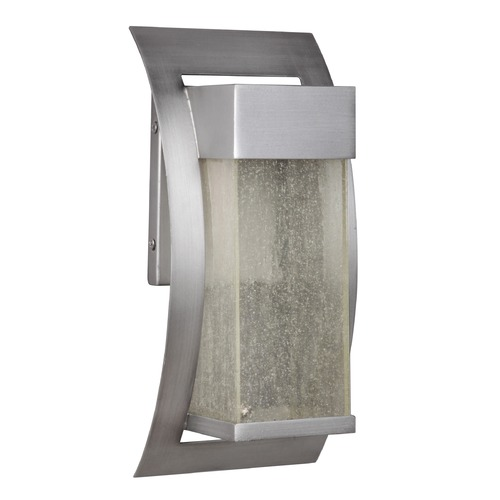 Craftmade Lighting Seeded Glass LED Outdoor Wall Light Satin Nickel Craftmade Lighting Z2504-19-LED