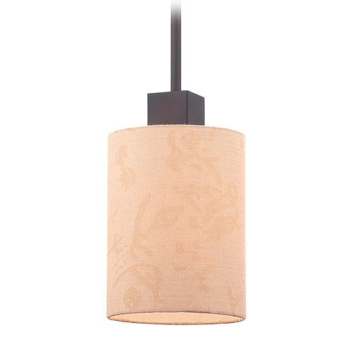 George Kovacs Lighting George Kovacs Kimono Antique Dorian Bronze Mini-Pendant Light with Cylindrical Shade P8080-615
