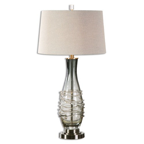 Uttermost Lighting Uttermost Durazzano Gray Glass Table Lamp 26905