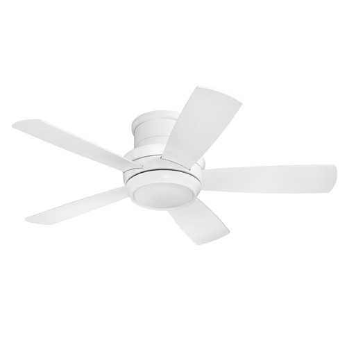 Craftmade Lighting Craftmade Tempo Hugger Brushed Polished Nickel LED Ceiling Fan TMPH44W5