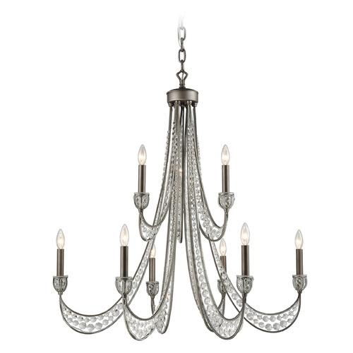 Elk Lighting Elk Lighting Renaissance Weathered Zinc Chandelier 16257/6+3