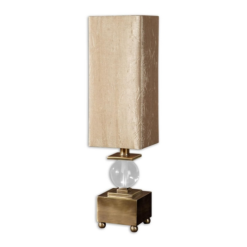 Uttermost Lighting Table Lamp with Beige / Cream Shade in Coffee Bronze Finish 29491-1
