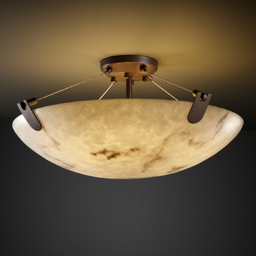Justice Design Group Justice Design Group Lumenaria Collection Semi-Flushmount Light FAL-9614-35-DBRZ