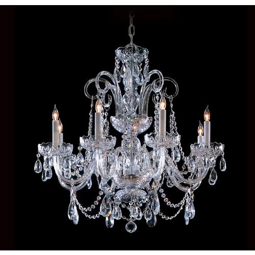 Crystorama Lighting Crystal Chandelier in Polished Chrome Finish 5008-CH-CL-MWP