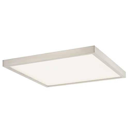 Design Classics Lighting Flat LED Light Surface Mount 14-Inch Square Satin Nickel 2700K 1560LM 14279-SN SQ T16 3O
