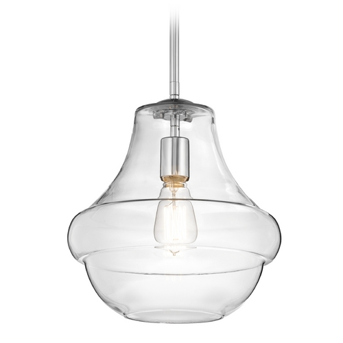 Kichler Lighting Kichler Pendant Light with Clear Glass in Chrome Finish 42044CH