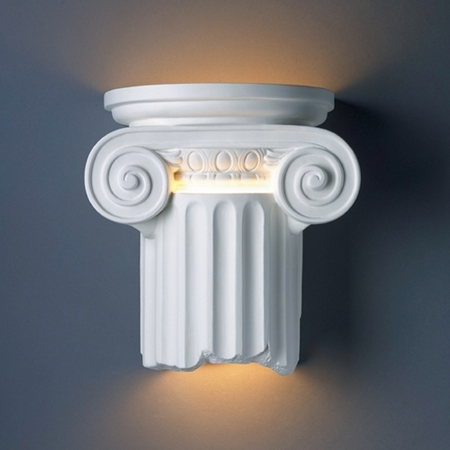 Justice Design Group Outdoor Wall Light in Bisque Finish CER-4715W-BIS
