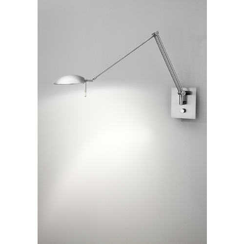 Holtkoetter Lighting Holtkoetter Modern Swing Arm Lamp in Satin Nickel Finish 8193 SN