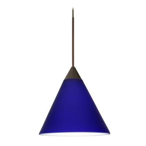 Besa Lighting Besa Lighting Kani Bronze LED Mini-Pendant Light with Conical Shade 1XT-5121CM-LED-BR