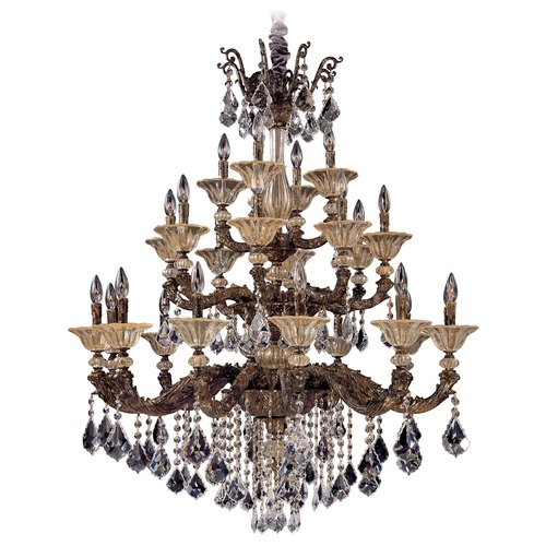 Allegri Lighting Allegri Mendelsshon 3-Tier 24-Light Crystal Chandelier in 2 Tone 24K Gold 10499-016-FR001