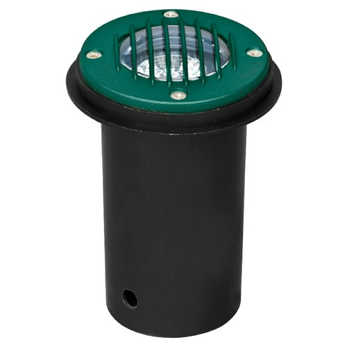 Dabmar Lighting Green Cast Aluminum In-Ground Well Light with Grill LV300-G-SLV