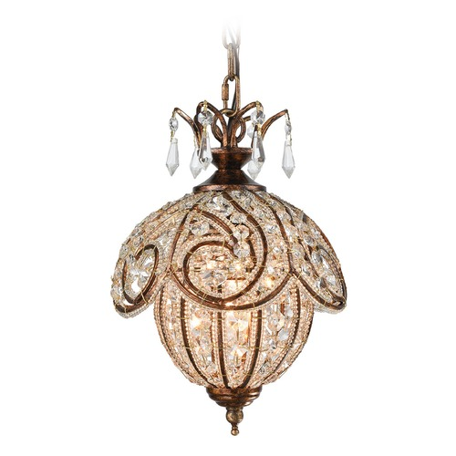 Elk Lighting Elk Lighting Jubilee Spanish Bronze Mini-Pendant Light 16260/1