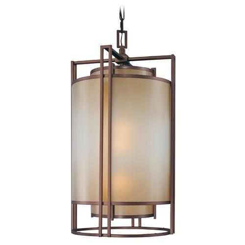 Metropolitan Lighting Underscore Cimmaron Bronze Pendant Light with Cylindrical Shade N6956-1-267B