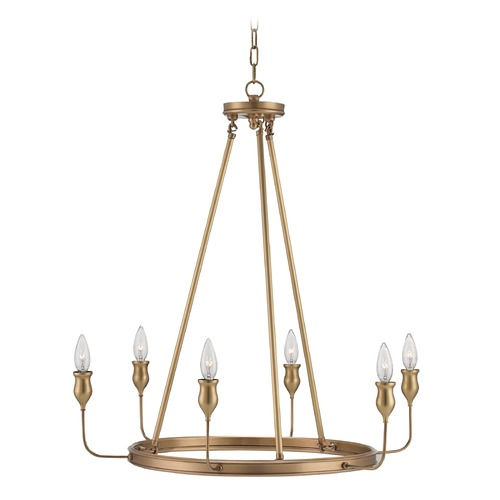 Currey and Company Lighting Currey and Company Trilogy Antique Brass Chandelier 9304