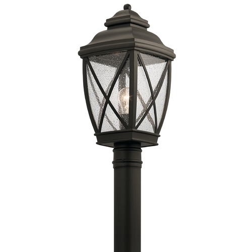 Kichler Lighting Seeded Glass Post Light Bronze Kichler Lighting 49843OZ