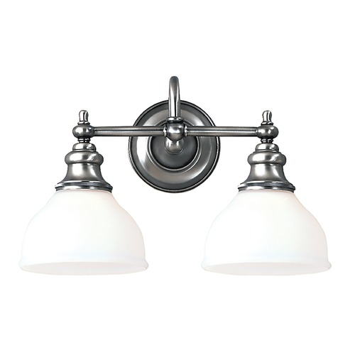 Hudson Valley Lighting Bathroom Light with White Glass in Polished Nickel Finish 5902-PN