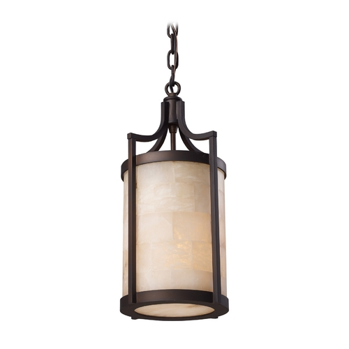 Elk Lighting Modern Mini-Pendant Light with Beige / Cream Glass 19000/1