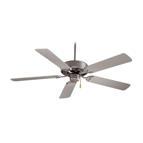 Minka Aire Ceiling Fan Without Light in Brushed Steel Finish F547-BS