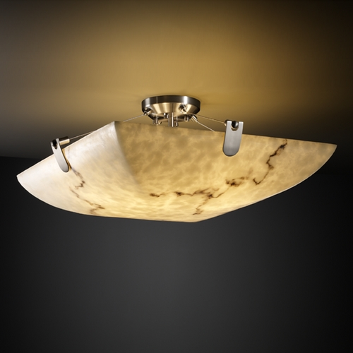 Justice Design Group Justice Design Group Lumenaria Collection Semi-Flushmount Light FAL-9617-25-NCKL
