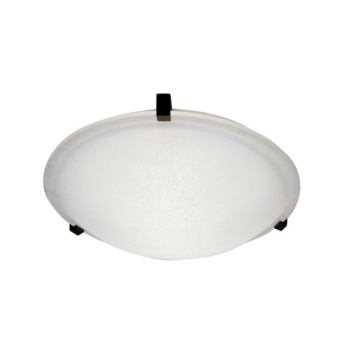 PLC Lighting Modern Flushmount Light with White Glass in Polished Chrome Finish 3475 PC