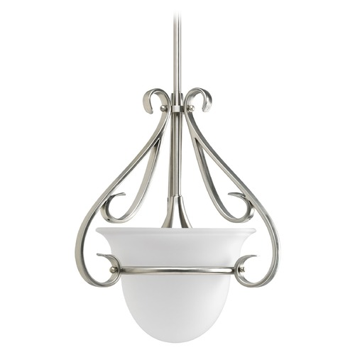 Progress Lighting Progress Pendant Light with White Glass P5144-09