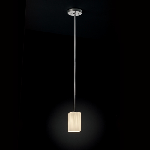 Justice Design Group Justice Design Group Fusion Collection Mini-Pendant Light FSN-8816-15-RBON-CROM
