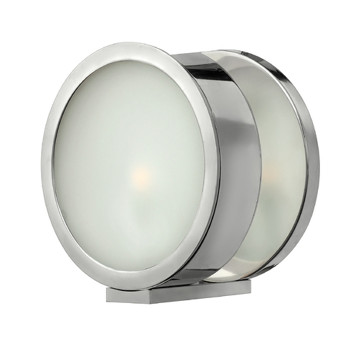 Frederick Ramond Modern Sconce Wall Light with White Glass in Polished Aluminum Finish FR41431PAL