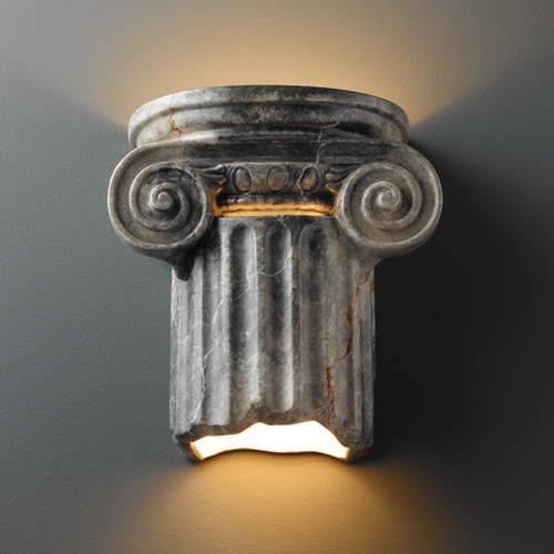 Justice Design Group Outdoor Wall Light in Slate Marble Finish CER-4715W-STOS