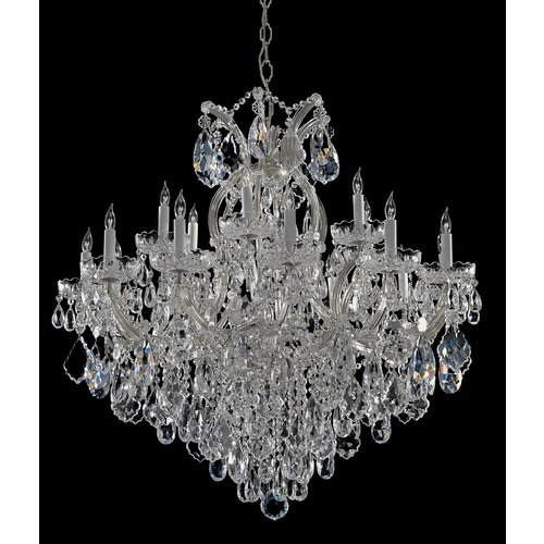 Crystorama Lighting Crystorama Lighting Maria Theresa Polished Chrome Crystal Chandelier 4418-CH-CL-S