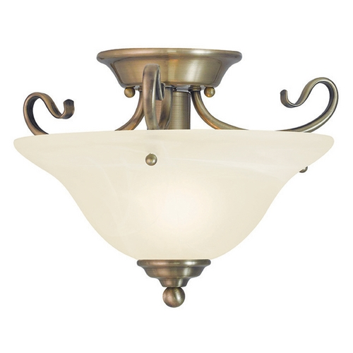 Livex Lighting Livex Lighting Coronado Antique Brass Semi-Flushmount Light 6109-01