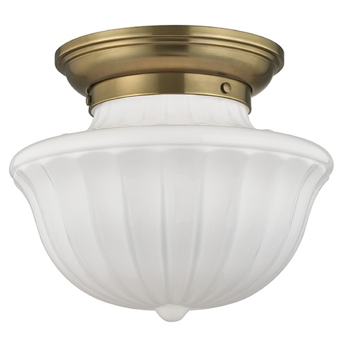 Hudson Valley Lighting Dutchess 1 Light Semi-Flushmount Light - Aged Brass 5012F-AGB