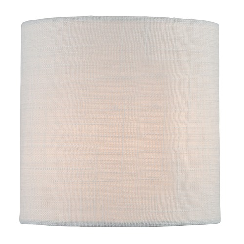 Lite Source Lighting Off-White Cylindrical Lamp Shade with Spider Assembly CH5246-5