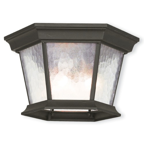 Livex Lighting Livex Lighting Hamilton Textured Black Close To Ceiling Light 75470-14