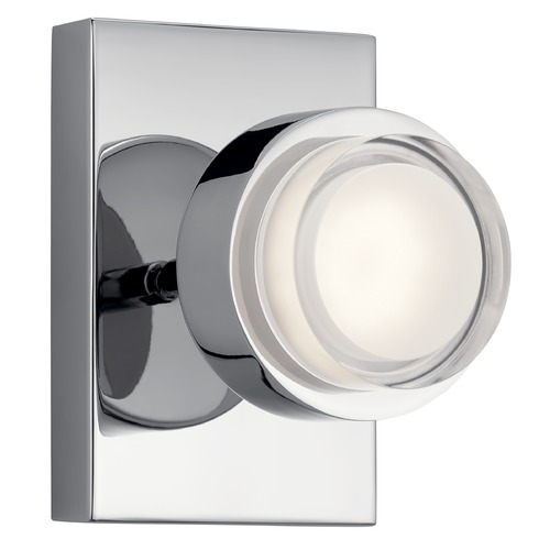 Elan Lighting Harlaw Chrome LED Sconce with Etched Acrylic 3000K 875LM 85075CH
