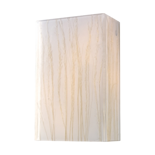 Elk Lighting Modern Sconce Wall Light with White Glass in Polished Chrome Finish 19030/2