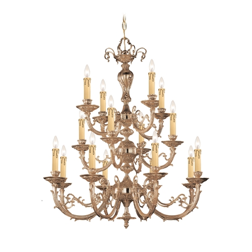 Crystorama Lighting Chandelier in Olde Brass Finish 490-OB