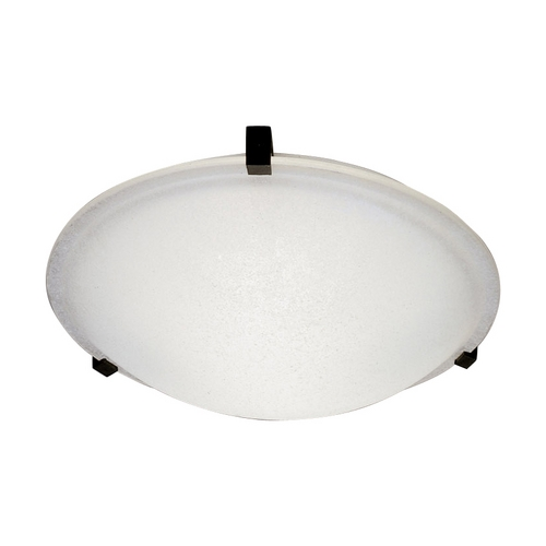 PLC Lighting Modern Flushmount Light with White Glass in Polished Brass Finish 3475 PB