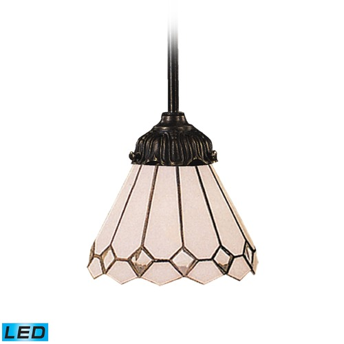 Elk Lighting Elk Lighting Mix-N-Match Tiffany Bronze LED Mini-Pendant Light with Scalloped Shade 078-TB-04-LED