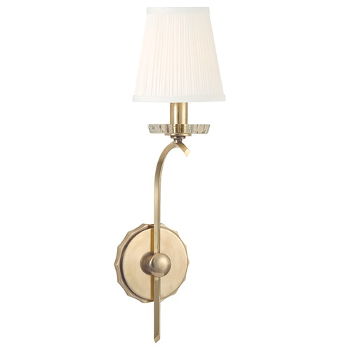 Hudson Valley Lighting Clyde 1 Light Sconce - Aged Brass 4481-AGB