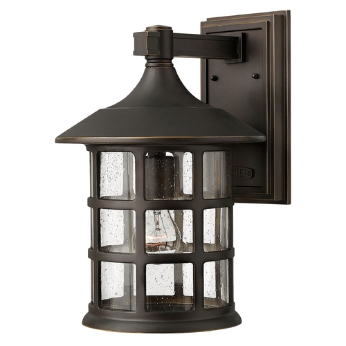 Hinkley Lighting Seeded Glass Outdoor Wall Light Oil Rubbed Bronze Hinkley Lighting 1805OZ-GU24