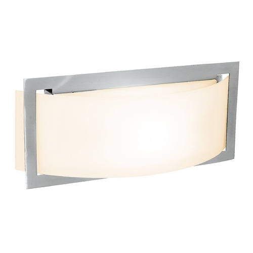 Access Lighting Access Lighting Argon Brushed Steel Sconce C62104BSOPLEN1113BS