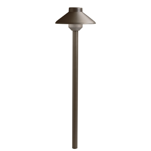 Kichler Lighting Kichler Lighting Landscape LED Textured Architectural Bronze LED Path Light 15821AZT27