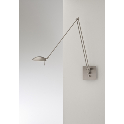 Holtkoetter Lighting Holtkoetter Modern Swing Arm Lamp in Satin Nickel Finish 8195 SN